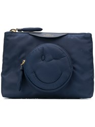 Anya Hindmarch Chubby Wink Clutch Bag Blue