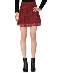 Maison Scotch Mini Skirts Red