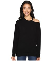 Culture Phit Tatum Open Shoulder Long Sleeve Top Black Women's Clothing