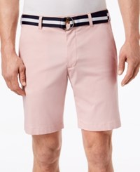 Club Room Men's Classic Fit Stretch Shorts Created For Macy's Chalky Rose