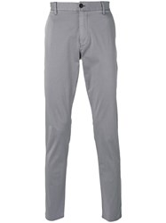 Armani Jeans Tapered Trousers Men Cotton Spandex Elastane 46 Grey