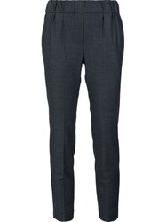 Brunello Cucinelli Straight Cropped Trousers Grey
