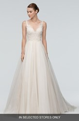 Watters Women's 'Janet' Embellished Tulle And Organza A Line Gown
