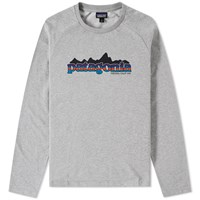 Patagonia Lightweight Logo Crew Sweat Grey