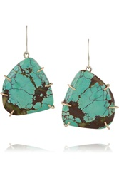 Melissa Joy Manning Sterling Silver Turquoise Earrings