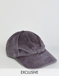 Reclaimed Vintage Washed Baseball Cap In Grape Purple