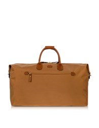 Bric's X Travel Large Foldable Last Minute Holdall In A Pouch Caramel