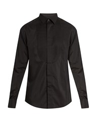 Lanvin Double Cuff Bib Front Dinner Shirt Black