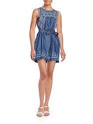 Romeo And Juliet Couture Embroidered Chambray Dress Denim