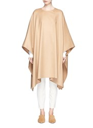 The Row 'Marcella' Felted Virgin Wool Blend Cape Coat Neutral