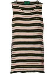 Jean Paul Gaultier Vintage 1990'S Junior Striped Tank Neutrals