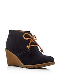 Sperry Stella Desert Wedge Booties Black