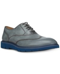 Donald J Pliner Men's Sennet Dipped Calf Oxfords Men's Shoes Gray
