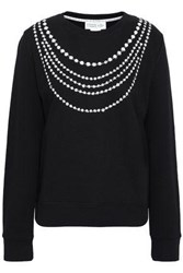 Kate Spade Printed French Cotton Terry Sweatshirt Black