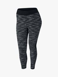 Nike Pro Hyperwarm Printed Crop Tights Black