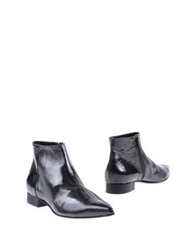 Luca Valentini Ankle Boots Maroon