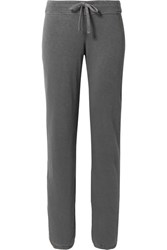 James Perse Genie Supima Cotton Terry Track Pants Dark Gray Gbp