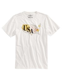 American Rag Men's Usa Embroidered T Shirt Created For Macy's Vintage White