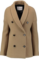 Sonia Rykiel Woven Wool Blend Coat Sand
