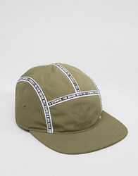 Adidas Originals 5 Panel Cap With Taping In Green Ay9006 Green