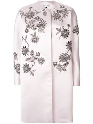 Dice Kayek Embroidered Coat Pink