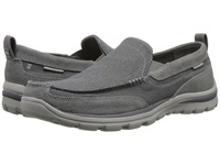 Skechers Superior Milford Charcoal Grey Men's Slip On Shoes Gray