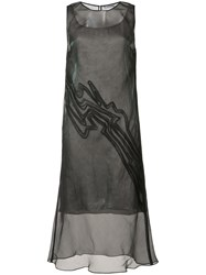 Maiyet Line Detail Dress Women Silk 1 Black