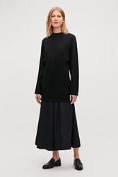 Cos Jersey Tunic Top Black