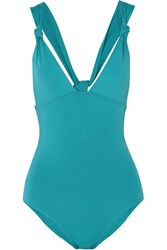 Eres Poker Prime Knotted Swimsuit Turquoise