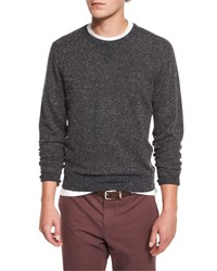 Brunello Cucinelli Donegal Crewneck Sweatshirt Charcoal