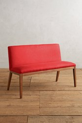 Anthropologie Linen Emrys Bench Red