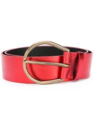 Maison Martin Margiela Large Knotted Belt Red