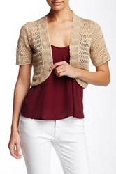 Eliza J Crochet Shrug White