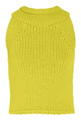 Matthew Williamson Knitted Cotton Blend Top Yellow