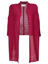 John Galliano Vintage Lured Knitted Cardigan Pink And Purple
