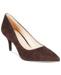 Nine West Margot Pointed Toe Pumps Women's Shoes Brown Suede
