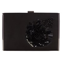 Coast Harlie Embellished Clutch Bag Black