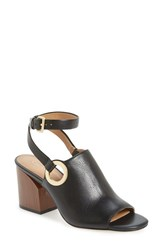 Calvin Klein Women's 'Adria' Wraparound Ankle Strap Sandal Black Leather