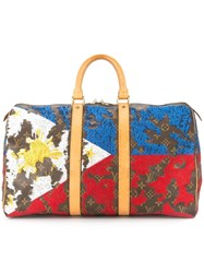 Jay Ahr Philippines Flag Vintage Louis Vuitton Keepall Brown