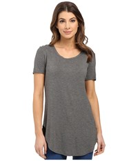 Culture Phit Caydee Short Sleeve Modal Top Heather Charcoal Women's Clothing Gray