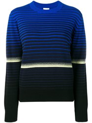 Barrie Striped Fitted Sweater Blue