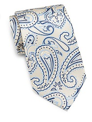 Burma Bibas Large Paisley Silk Tie Maize