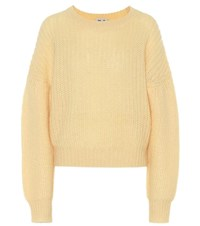 Baum Und Pferdgarten Chuden Mohair And Wool Blend Sweater Yellow