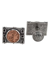 Konstantino Men's Sterling Silver And Copper Herakles Cuff Links W Spinel Insets