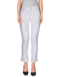 Prada Denim Denim Trousers Women White