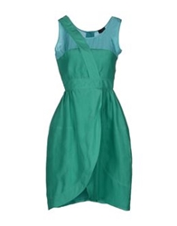 Fendi Knee Length Dresses Emerald Green