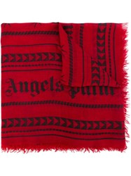 Palm Angels Geometric Print Scarf Red