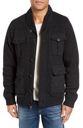 Schott Nyc Men's Military Sherpa Lined Sweater Jacket