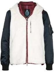 Guild Prime Contrast Hooded Padded Jacket Polyester White