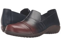 Naot Footwear Miro Ink Brown Leather Women's Flat Shoes